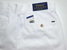 NWT Men's Polo Ralph Lauren Casual Shorts, Classic Fit, White Sz. 42