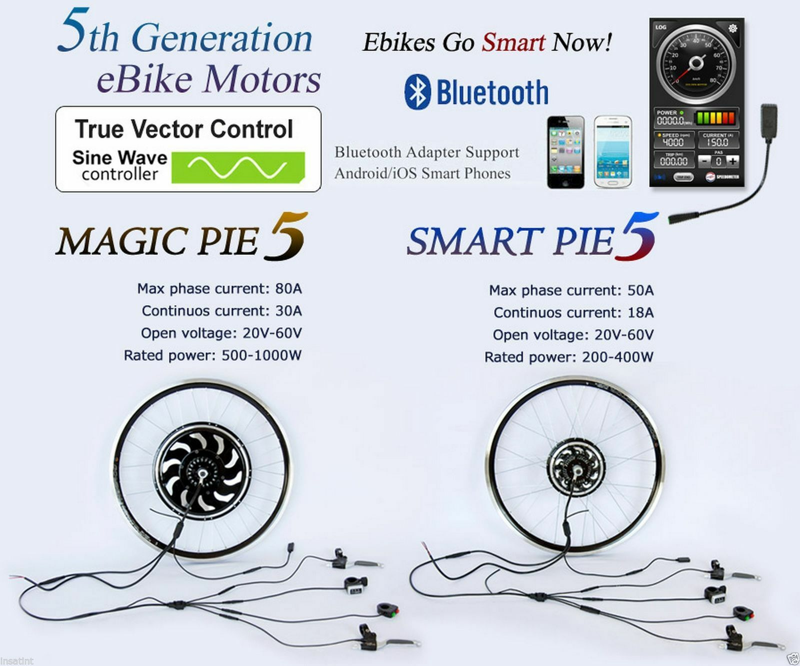 golden Motor Smart Pie 4, Magic Pie 5 & Magic Pie Edge E-Bike Conversion Kits