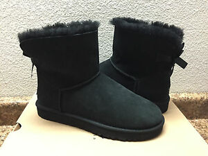 7d7270a1a67 Details about UGG CLASSIC MINI BAILEY BOW BLACK BOOT US 6 / EU 37 / UK 4.5  - NEW