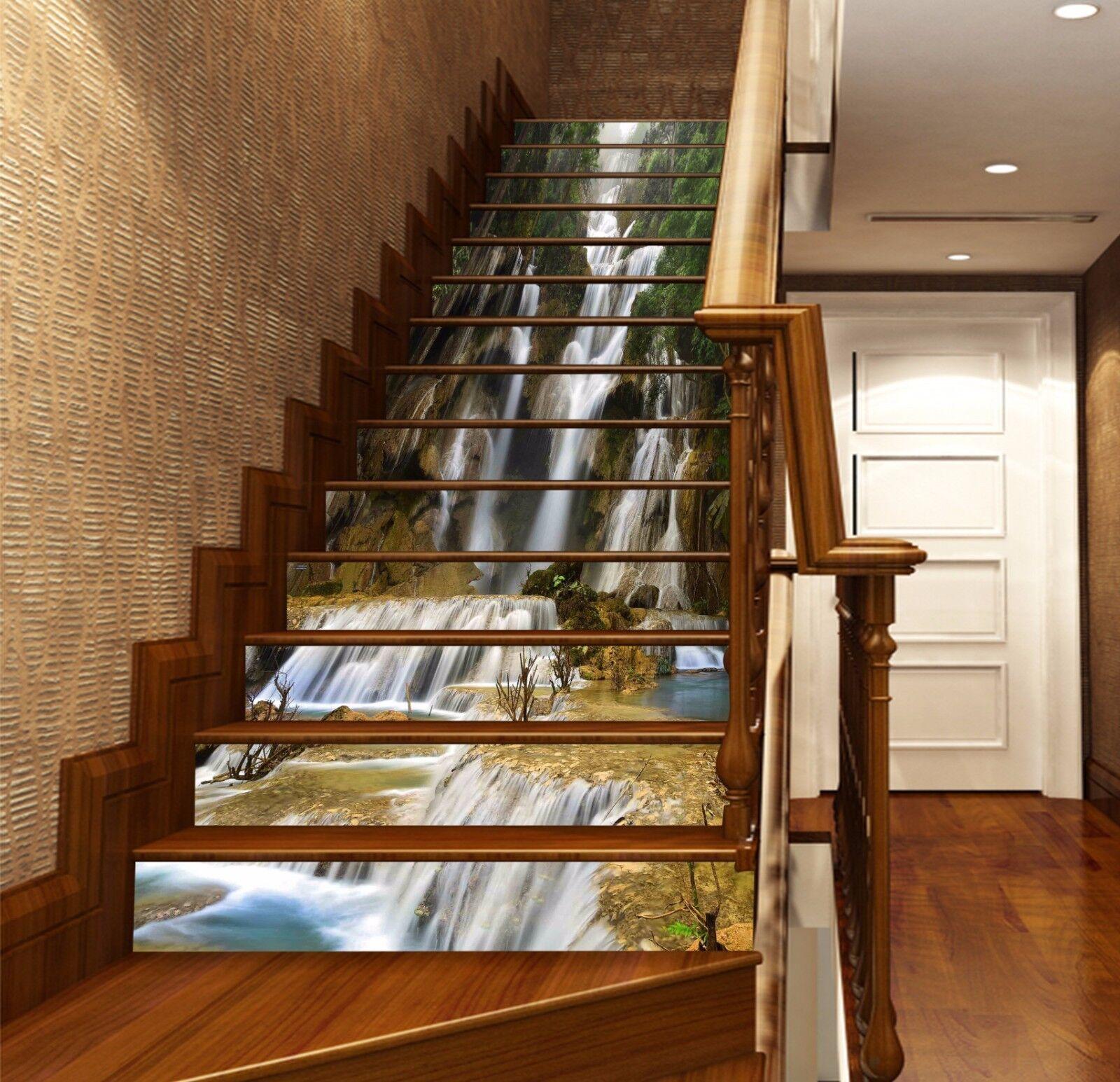 3D Waterfall 823 Stair Risers Decoration Photo Mural Vinyl Decal Wallpaper AU