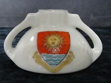 Shelley china model of ancient Cypria water bottle with Weston-Super-mare crest