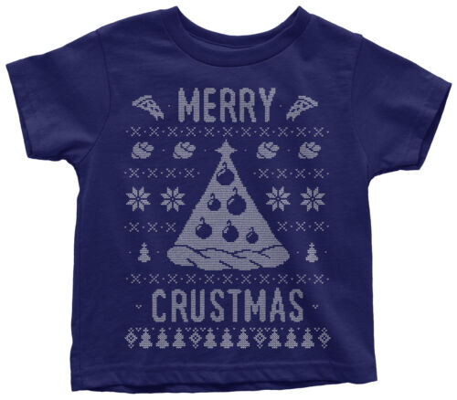 Merry Crustmas Ugly Sweater Toddler T-Shirt Funny Christmas Gift