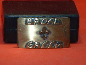 Pre-Owned-Broad-amp-Greek-Solid-Brass-Belt-Buckle
