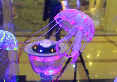 Glowing Effect Vivid Jellyfish for Aquarium Fish Tank Garden Pool Ornament Decor
