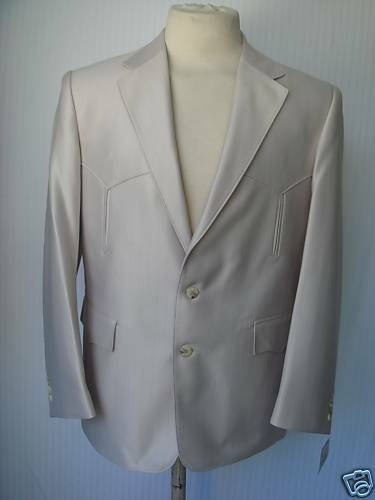42L New Mens Western Wear Sport Coat  Bone Swedish Warp