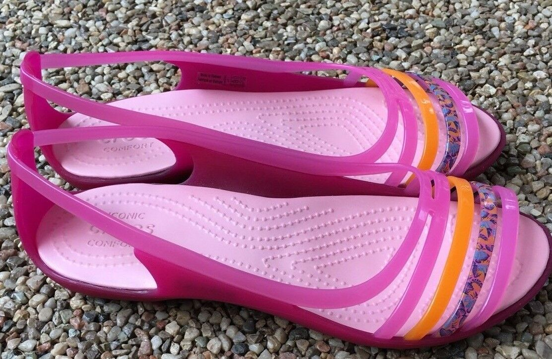 Crocs Pink Sandals Super 5w Cute Women's Shoes Size 5w Super c888c0