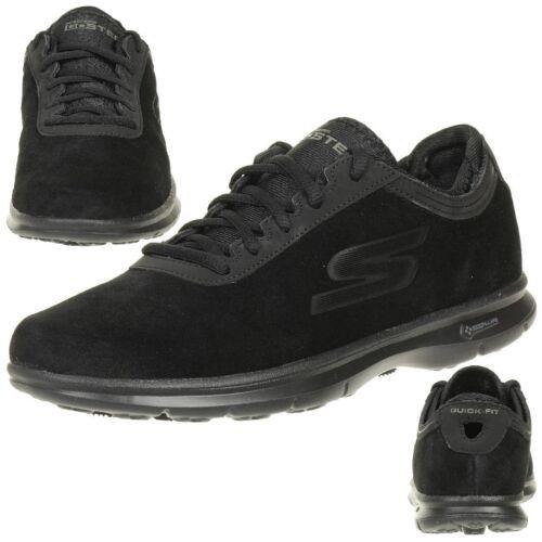Foam Chaussures Go Skechers Inception Mat Step Noir Cuir Femmes Goga qSwU0awB