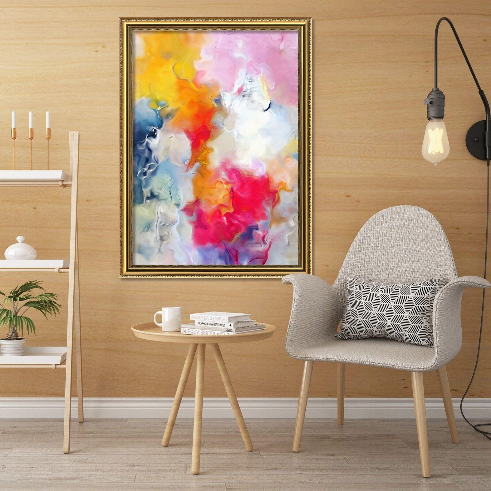 3D Couleur Art Pattern 5 Fake Framed Poster Home Decor Print Painting Unique Art