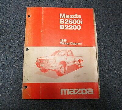 1991 mazda b2600i wiring diagrams 1989 mazda b2600i b2200 service wiring diagram manual ebay  1989 mazda b2600i b2200 service wiring