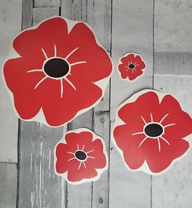 Poppy Car Sticker Vinyl British Armed Forces Veterans War Remembrance Ebay