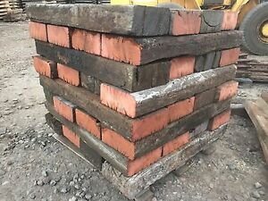 Details About Railway Sleepers Blocks Landscaping Timber Azobe Hardwood Sleepers Sale