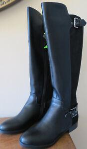 6defcb711404 Liz Claiborne Dallas Women s Black Wide Calf Riding Boots Size 5M ...