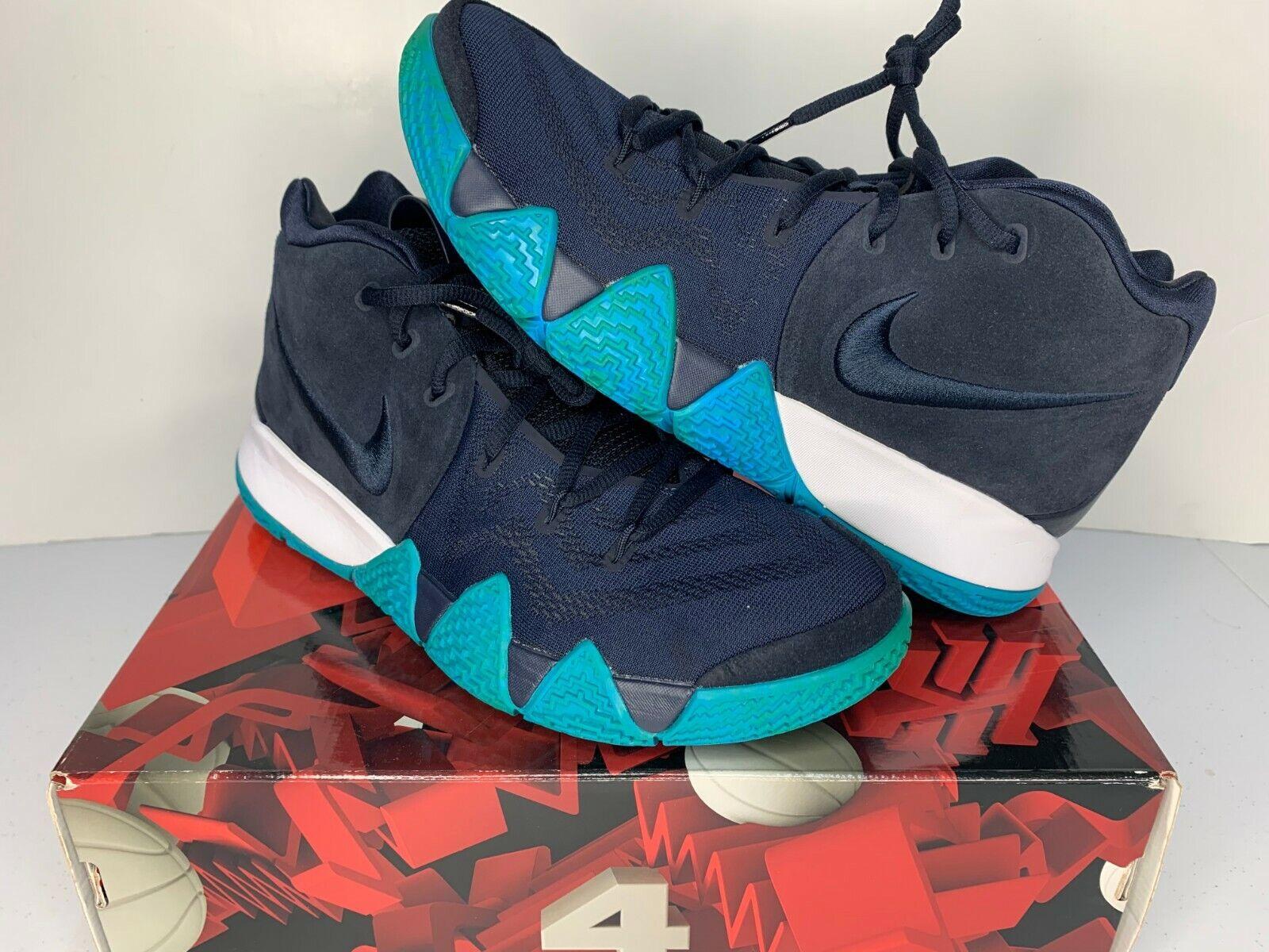 0903c8bcee8 Nike Kyrie 4 Think Twice Dark Obsidian Navy Size 11.5 Men's 943806 ...