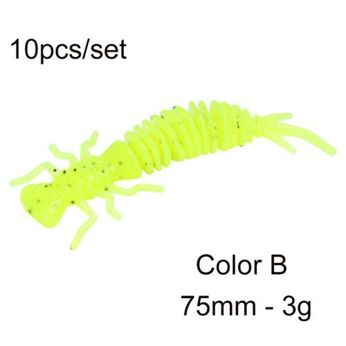 Worm 55mm 75mm 100mm  Carp Soft Bait Silicone Swimbait Larva Fishing Lures