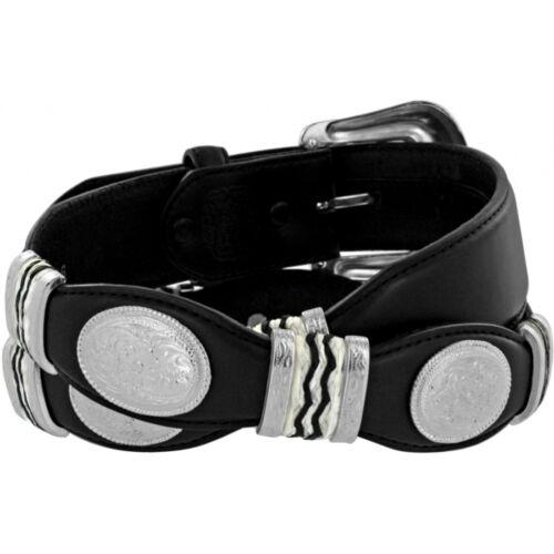 Tony Lama Western Mens Belt Leather Scalloped Conchos Black 9113L