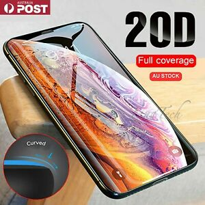 For iPhone X XR 11 12 13 ProMax SE 20D FULLCover Tempered Glass Screen Protector
