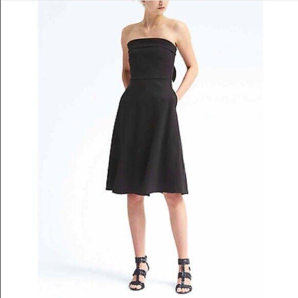 Banana Republic Strapless Black Dress