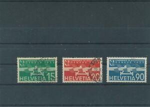 Suisse-Suisse-Vintage-1932-Mi-256-258-Timbres-Used-Poste-Aerienne