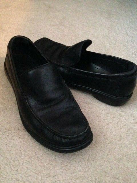 Men's COLE Leather HAAN Black Keating Venetian Leather COLE Slip-on Loafer Shoes (C11405) 10M cbdb3a