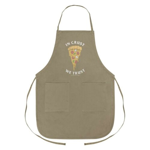 In Crust We Trust Pizza Funny Humor Apron with Pockets