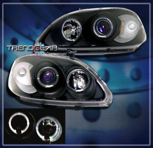 Image Is Loading 1999 2000 Honda Civic Halo Projector Headlights Jdm