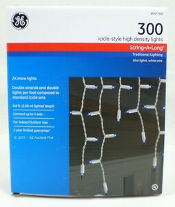 Ge Blue 300ct Icicle Style Christmas Wedding Lights String