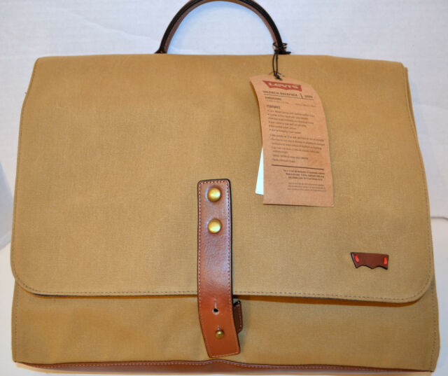 a274f563c Levi's Valencia 3009C04 Backpack Khaki Bag Canvas w/Leather Straps MSRP$170  NWT
