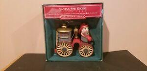 Hallmark-Keepsake-Ornament-Vintage-1985-Santa-s-Fire-Engine-7th-Here-Comes-Santa
