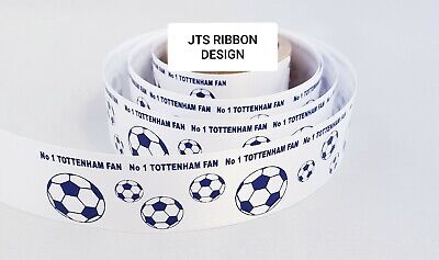 Aston Villa  Football Ribbon 25mm ideal for cakes and present wrap No 1 FAN