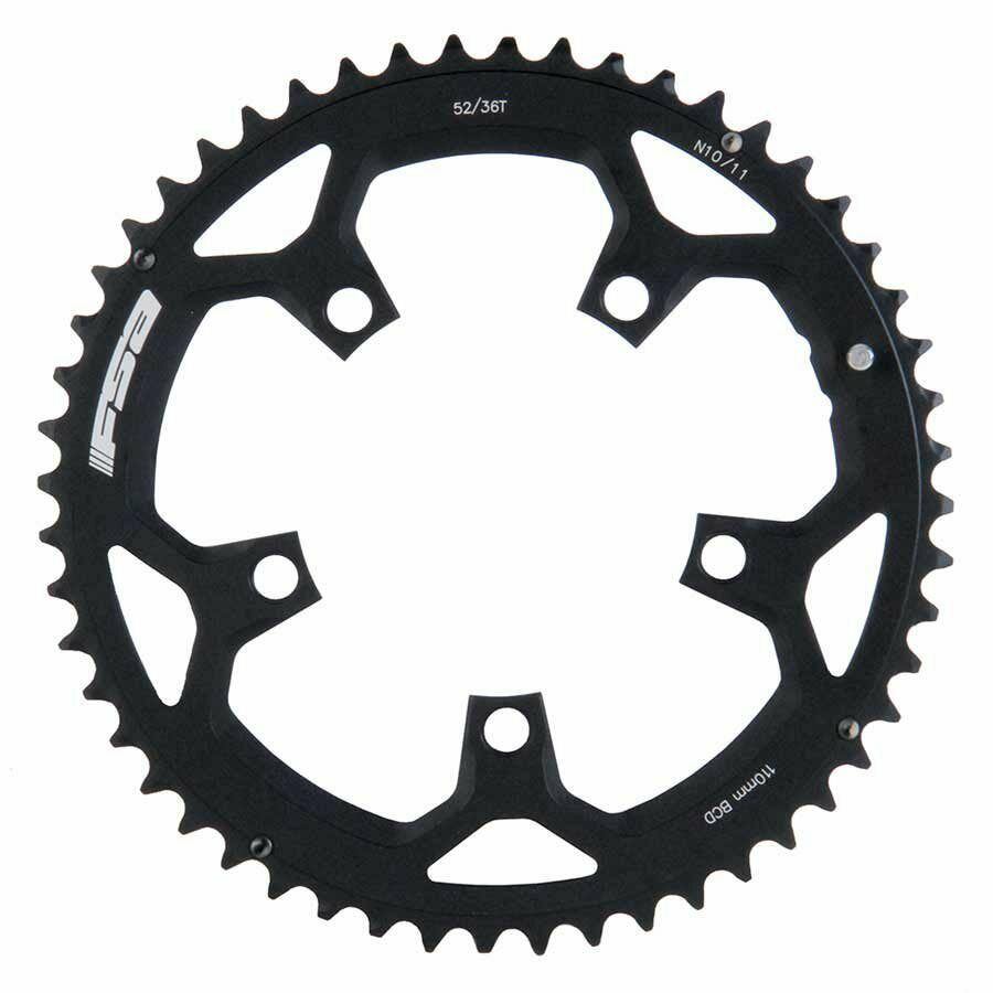 FSA 52T 1011sp. BCD  110mm 5 Bolts Pro Road Outer Chainring For Double Aluminum