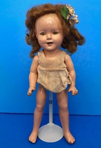 Vintage-1930s-Shirley-Temple-Doll-13-inches-Tall-Composition-wearing-Slip