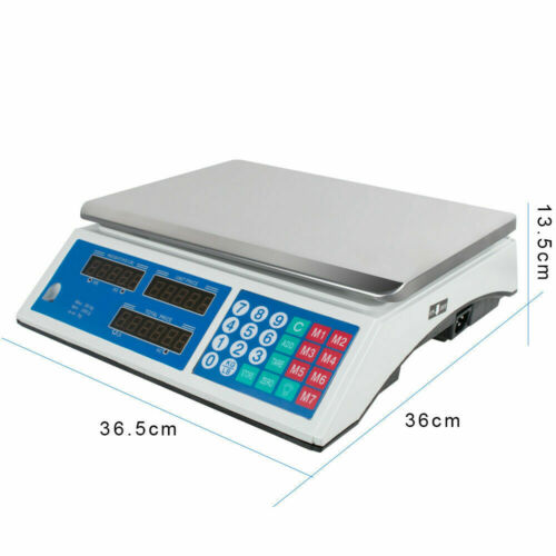 【USA】Digital Scale Price Computing Electronic Counting Weight 66 LBS Commercial