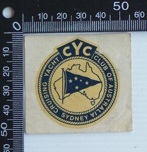 VINTAGE-CYC-CRUISING-YACHT-CLUB-OF-AUSTRALIA-SYDNEY-ADVERTISING-PROMO-STICKER