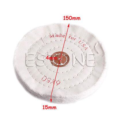 "6''/150mm Cloth Buffing Polishing Wheel 1/2"" Arbor Buffer Polish Grinder Pad"
