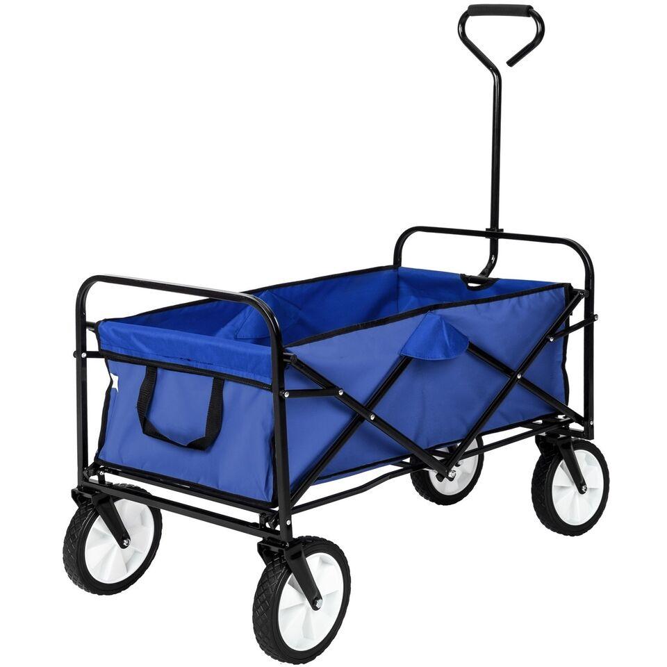 Foldbar trækvogn blå