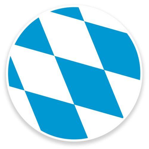 2 x 10 cm Autocollant Vinyle drapeau Bavière decal portable vélo de voiture ALLEMAGNE allemand # 9080
