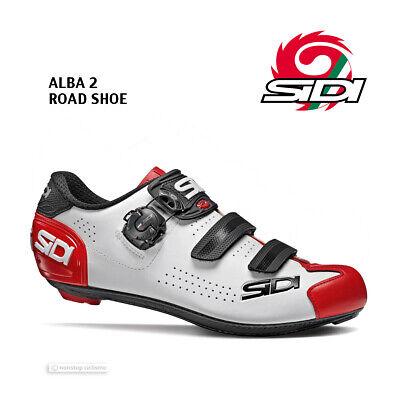 NEW 2020 Sidi ALBA 2 Road Cycling Shoes : WHITEBLACKRED | eBay