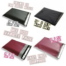 100 Poly Mailers Variety Pack 25 Ea 2 Mixed Sizes 10x13 Amp 12x155