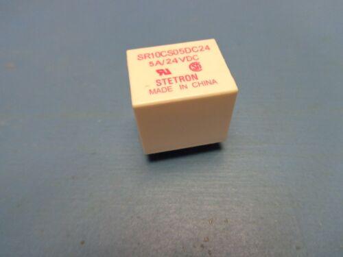 STETRON SR10CS05DC24 SPDT 24V 24VDC 5A 5 AMP Through Hole Non Latching RELAY 1