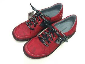 Details zu Kacper Polen Damen Schuhe Halbschuh Schnürer Sneaker 2 4356 Leder rot