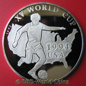 1992-AFGHANISTAN-500-AFGHANIS-SILVER-PROOF-WORLD-CUP-SOCCER-1994-USA-MAP-38mm