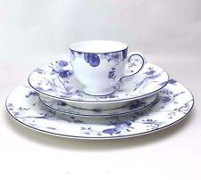 Wedgwood Blue Plum 4 Pc Place Setting Dinner Salad Plates Soup Bowl Tea Cup Mug