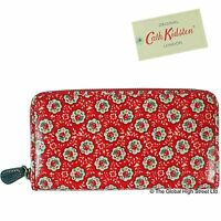 Cath Kidston Purse - Zip Wallet Kempton Rose (red) 100% Authentic