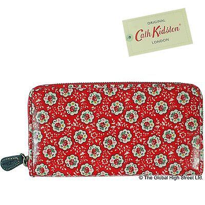 Cath Kidston Purse - Zip Wallet Kempton Rose (red) *100% authentic* *BNWT*