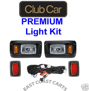 Club Car DS Golf Cart Basic Light Kit, Halogen Headlights w/LED Taillights