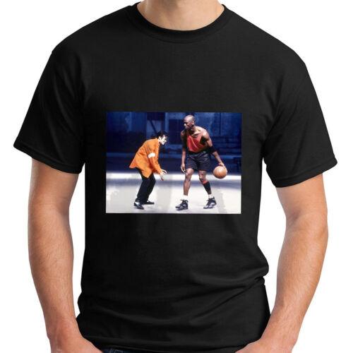 New MICHAEL JORDAN and MICHAEL JACKSON 90s VINTAGE Chicago Men/'s Black T-Shirt