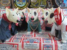 VTG Bud Light Spuds Mackenzie Bull Terrier Motion Dog Outfit Bar Beer Sign WOW