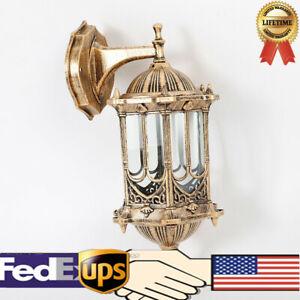 Outdoor-Garden-Lamp-Sconce-Exterior-Wall-Light-Fixture-Retro-Aluminum-Lantern