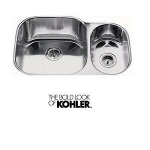 Kohler Icerock 15 Bowl Stainless Steel Undermount Sink