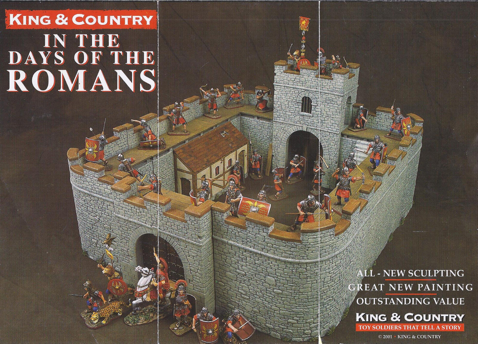 KING & COUNTRY ROMAN EMPIRE RO40 10 PIECE ROMAN FORT MIB
